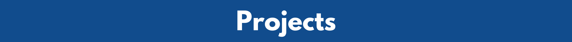 'Projects', Blue background