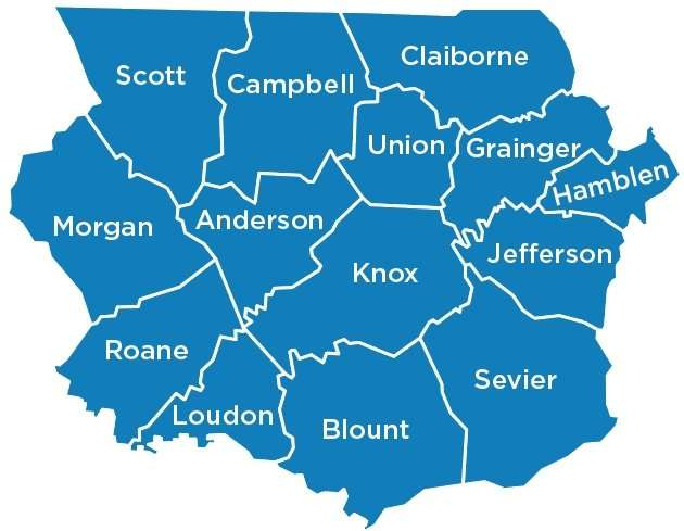 Greater Knox Chapter counties